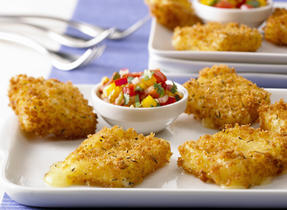 Canadian Havarti 'Croquettes' with Sweet Pepper Salsa (Cooking Club Size)