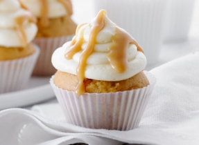 Caramel and Sea Salt Cupcakes