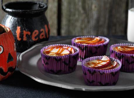 Caramel Apple Mini Cheesecakes Recipe