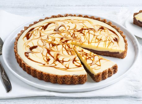 Caramel-Swirled White Chocolate Tart Recipe