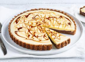Caramel-Swirled White Chocolate Tart