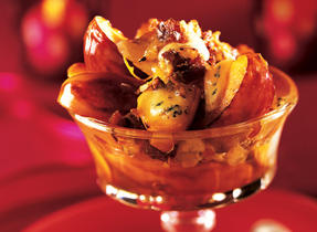 Caramelized Apples with Blue Cheese
