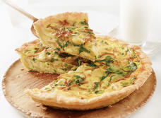 Caramelized Onion, Arugula and Brie Tart