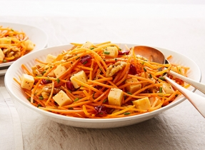 Carrot, cranberry & Gouda salad