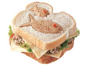 Catch a Tuna & Havarti Cheese cut out