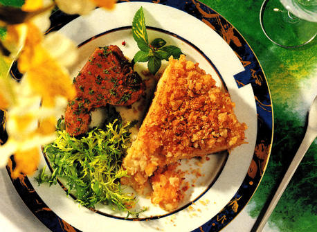 Cauliflower Cheese Pie in Toasted Crumb Crust Recipe