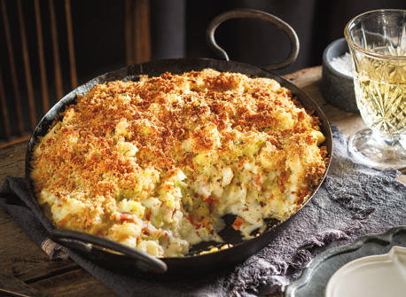 Cauliflower, Leek and Bacon Gratin Recipe