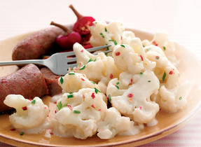Cauliflower with Zesty Cheese Sauce