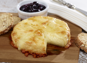 Cedar Baked Cheese Duo with Birch & Blueberry Relish