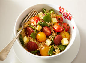 Cheddar and Grilled Cherry Tomato Salad