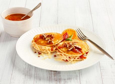 Cheddar and Jam Pancake Sandwich Recipe