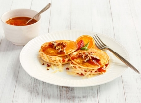 Cheddar and Jam Pancake Sandwich
