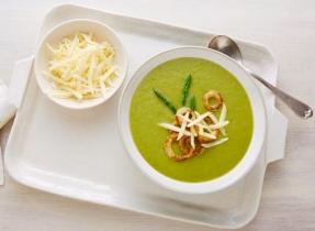 Cheddar & asparagus potage