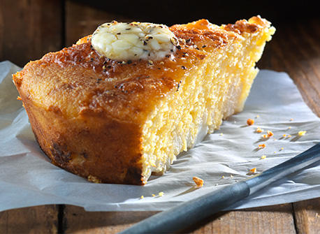Cheddar-Cauli Skillet Corn Bread  Recipe
