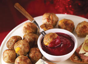 Cheddar Stuffed Meatballs with Rosemary