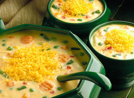 Cheddar Vegetable Chowder (Cooking Club Size) Recipe