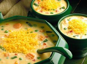 Cheddar Vegetable Chowder (Cooking Club Size)