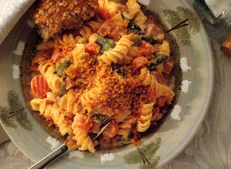 Cheese and Vegetable Pasta Bake Recipe