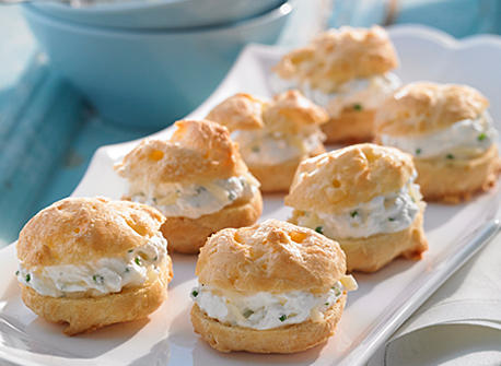 Cheese Gougeres Filled with Extra Old Cheddar Whipped Cream Recipe