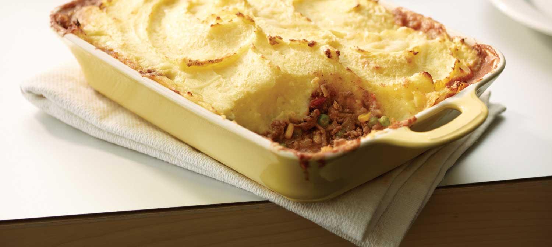 Cheesy Potato-Topped Beef & Vegetable Shepherd's Pie recipe | Dairy ...