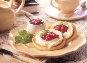 Cherry Cheesecake English Muffins