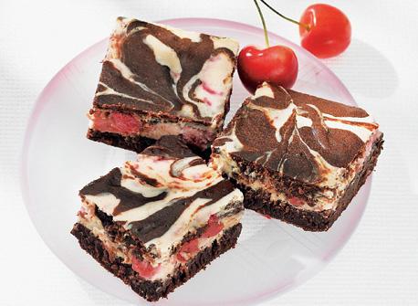 Cherry Cream Cheese Marble Brownies Recipe