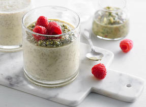 Chia Pudding with Pistachio Pesto