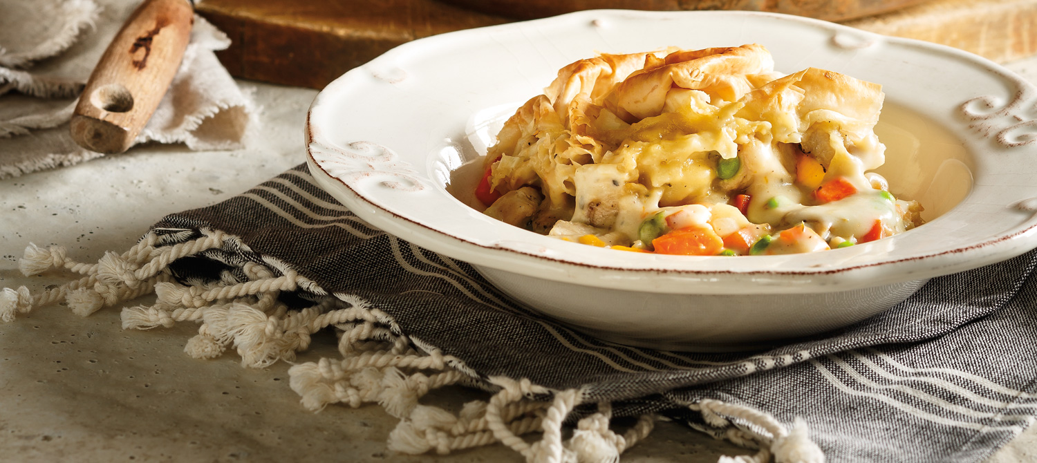 Chicken and Root Vegetable Pot Pie recipe | Dairy Goodness