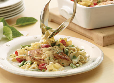 Chicken and Vegetable Casserole with Basil Recipe