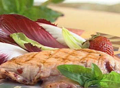 Chicken Breasts with Canadian Havarti Cheese and Port Flavoured Strawberries Recipe
