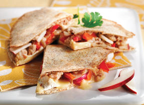 Chicken Brie & Apple Quesadillas