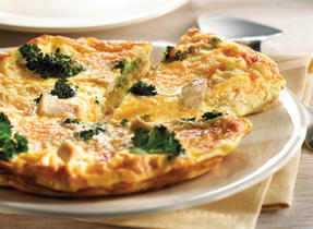 Chicken, Broccoli and Cheddar Frittata