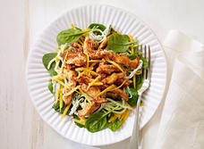 Chicken, Cheddar and cucumber remoulade salad