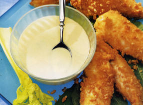 Chicken Fingers with Honey Mustard Dipping Sauce