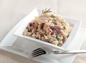 Chicken, Pea and Mushroom Risotto