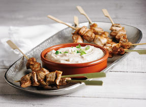 Chicken Satay with Cream Cheese-Peanut Sauce
