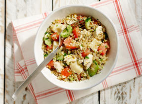 Chicken, Swiss & Vegetable Bulgur Salad