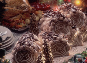 Chocolate and Chestnut Christmas Roll