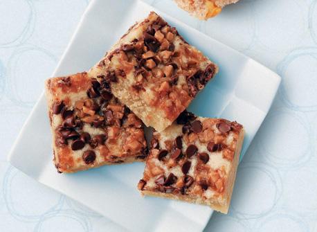 Chocolate Chip Toffee Squares Recipe