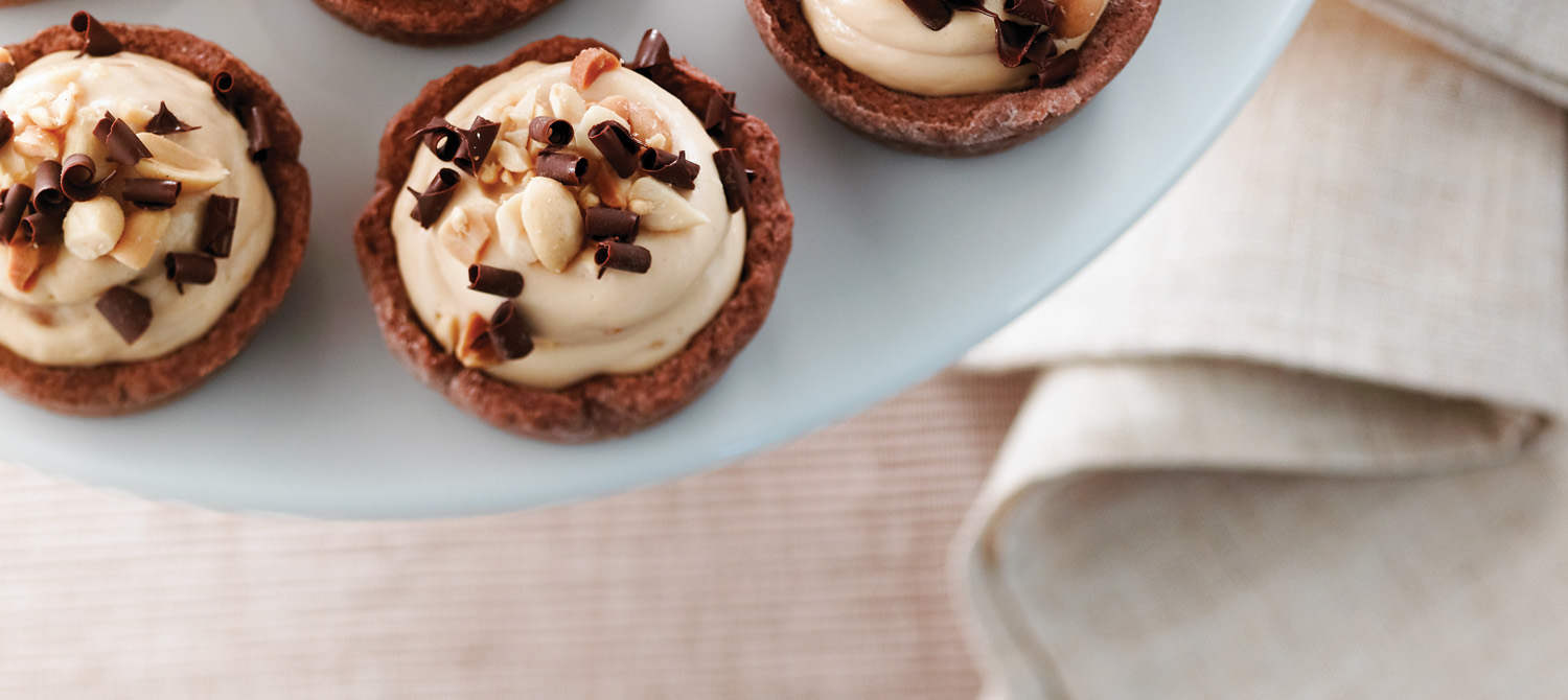 Chocolate Peanut Butter Cheesecake Tarts recipe | Dairy ...