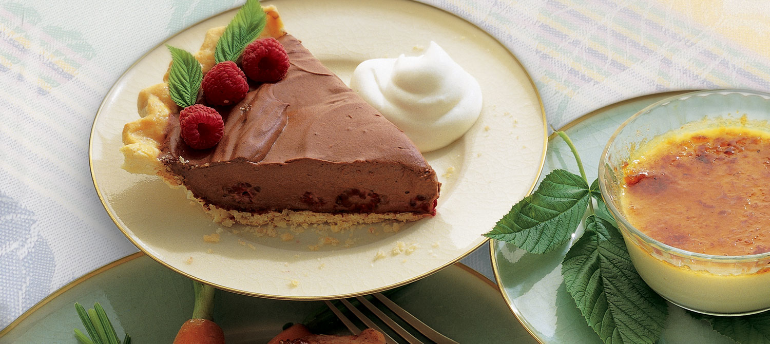 Chocolate Raspberry Cream Pie recipe | Dairy Goodness