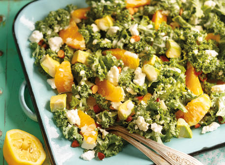 Citrus Kale & Avocado Salad Recipe
