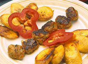 Cocktail Pork Meatballs and Plantains