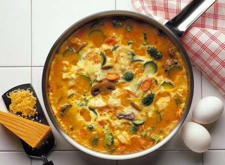 Colby Vegetable Frittata Recipe
