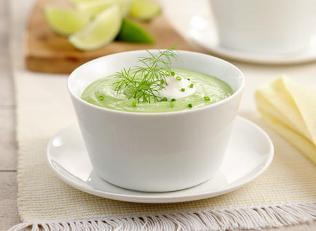 Cold Avocado and Green Pea Soup with Dill Recipe
