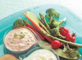 Coriander & Salsa Veggie Dip