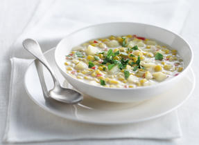 Corn and Red Pepper Chowder