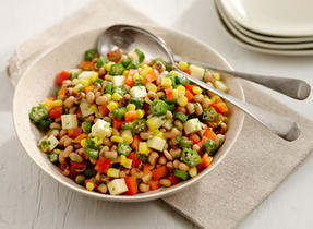 Corn, Okra and Black-eyed Pea Salad