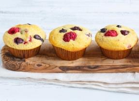 Cornmeal Bumbleberry Muffins