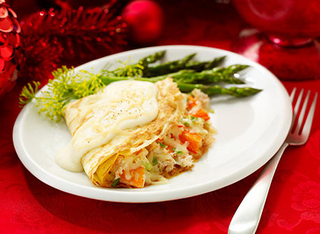 Crab and Mozzarella Crêpes